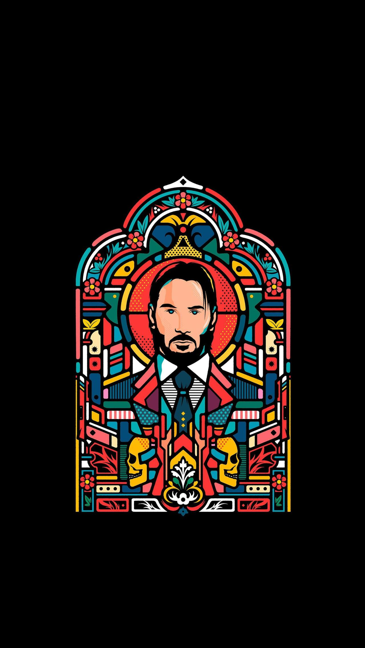 Actor John Wick Creative Mobile Pic
