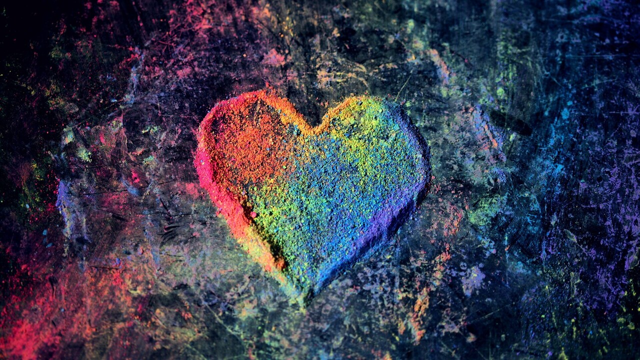 Colorful Heart 4K Wallpaper