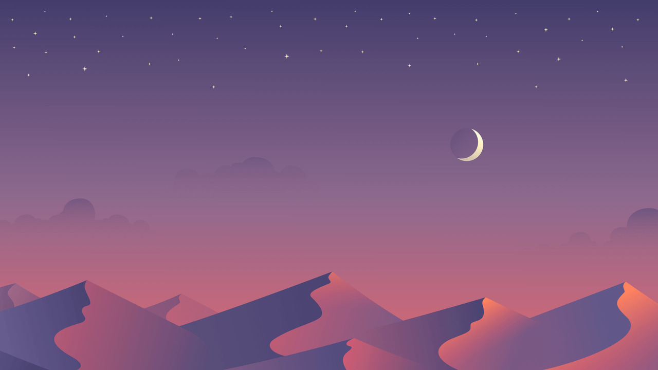 Desert and Moon Poster Pic
