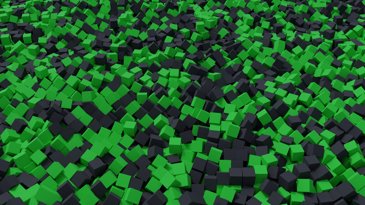 Green And Black Foam Pit