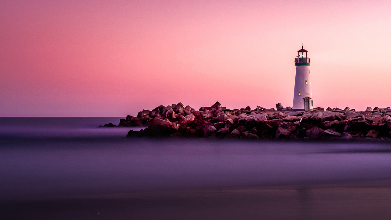 Lighthouse During Sunset 4K
