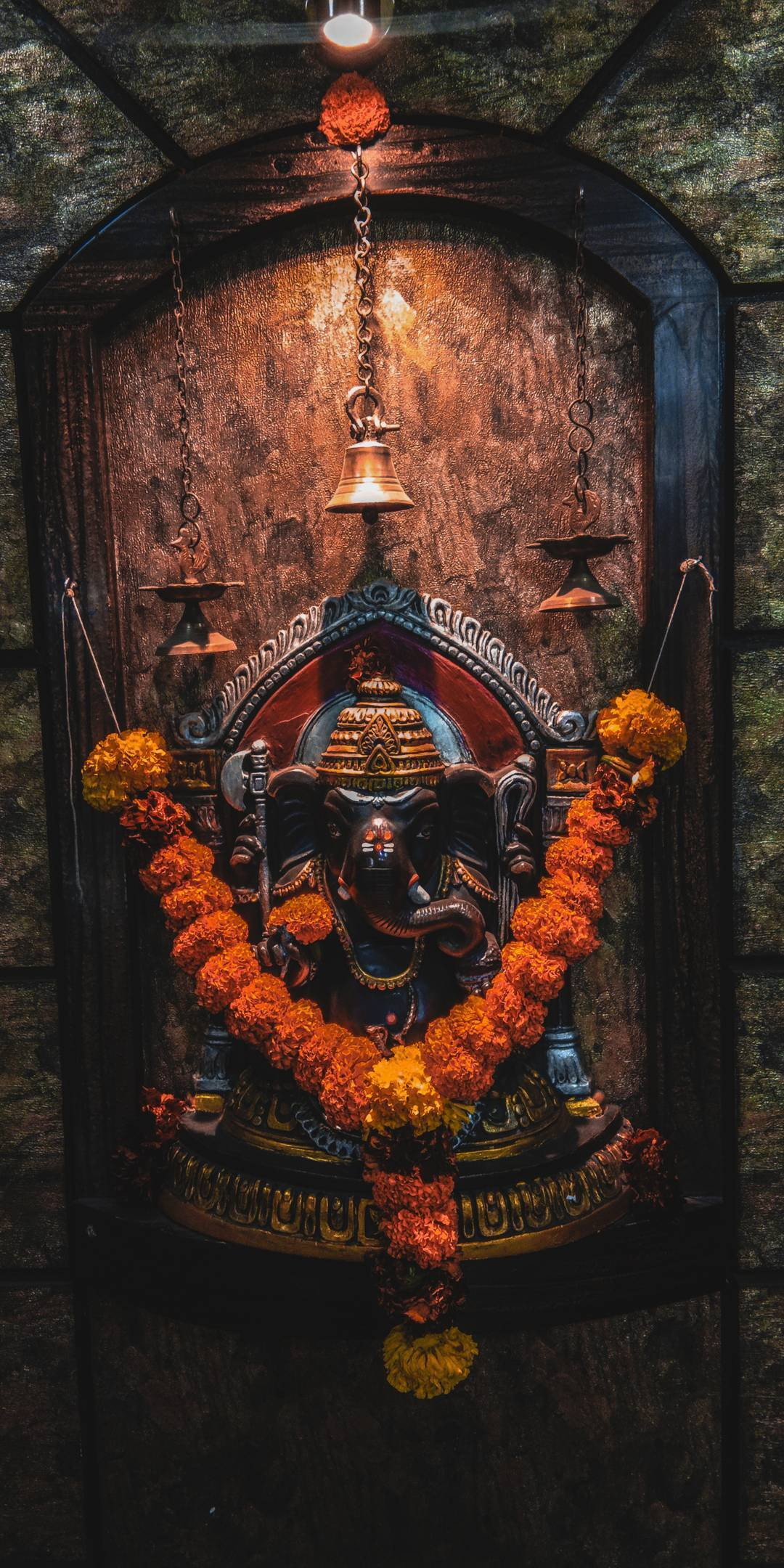 Lord Ganesha Statue in Temple