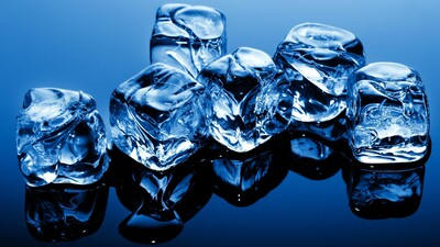 3D Ice Cube 4K Photography