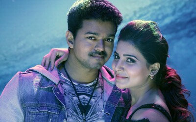 Actor Vijay And Samantha in Theri Movie