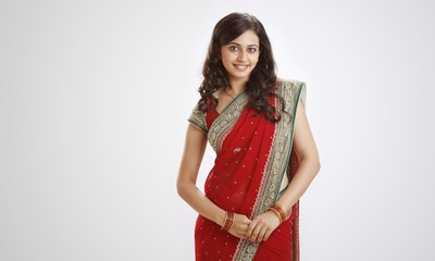 Actress Rakul Preet Singh In Red Saree