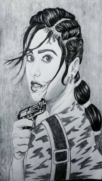 Adah Sharma Pencil Scratch Photo