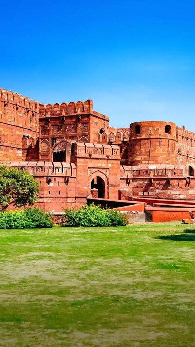 Agra Fort Castle in India