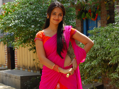 Anushka Shetty in Pink Saree