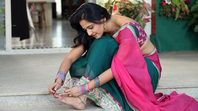 Anushka Shetty Painting Her Nails