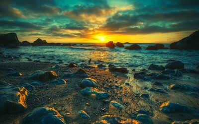 Beach Sunset Nature Pic