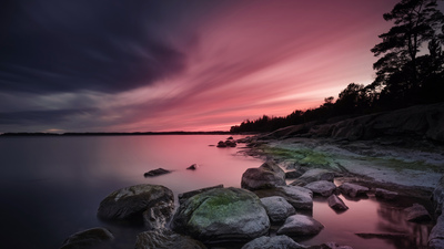 Beautiful Nature after Sunset 4K Wallpaper