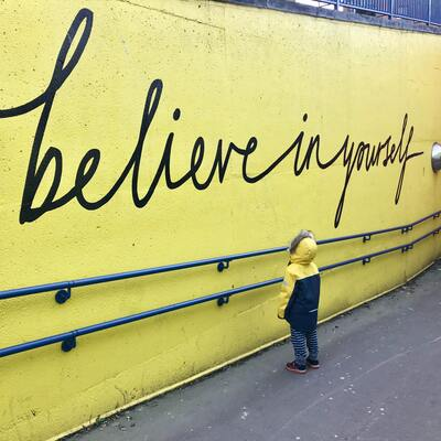 Believe in Yourself Saying on Wall
