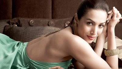 Bollywood Heroine Malaika Arora In Backless Dress
