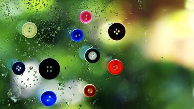 Buttons on Glass Creative Pic