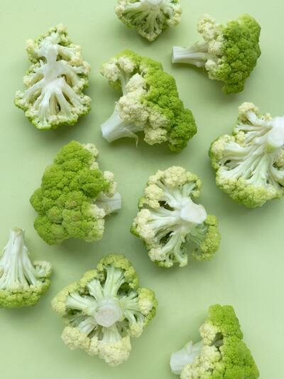 Cauliflower Vegetable Background Photo