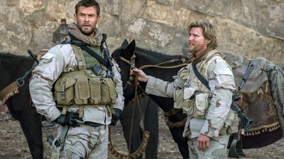 Chris Hemsworth and Thad Luckinbill in 12 Strong Movie