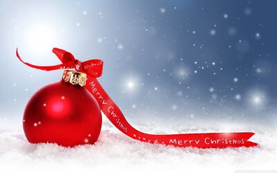 Christmas Decoration Red Ball Background Wallpaper