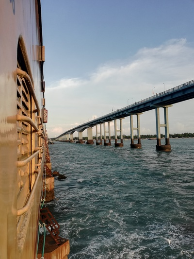 Click Photo from Train Rameswaram