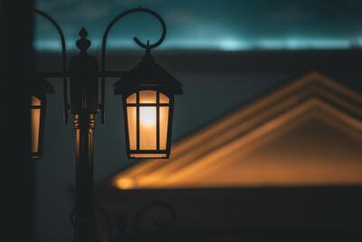 Closeup Look of Street Light 4K View