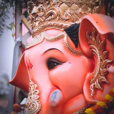 Closeup Pic of Lord Ganesha Ultra HD
