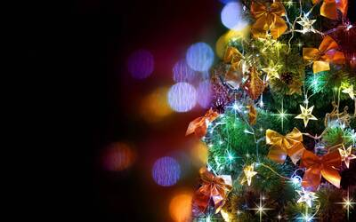 Colorful Christmas Festival Background Wallpaper