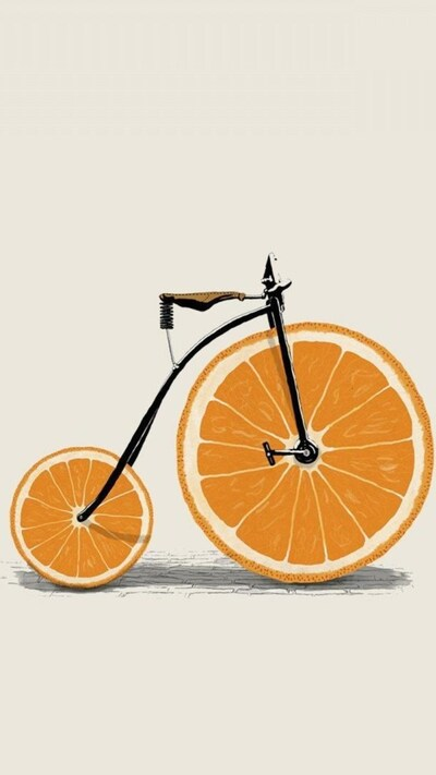Creative Orange Cycle