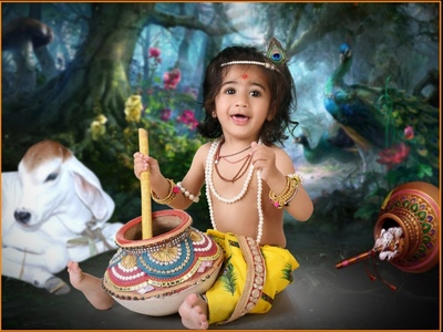 Cute Baby Photograpy in Krishna