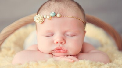 Cute Baby Sleeping 4K Photo