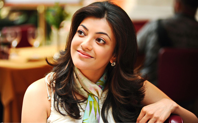 Cute Hidden Smile of Kajal