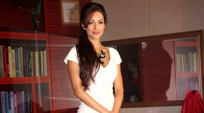 Cute Malaika Arora In White Dress