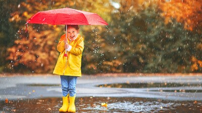 Cute Photography of a Child in Rain