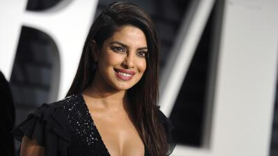 Cute Smile of Priyanka Chopra in Black Dress