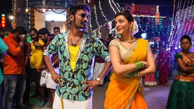 Dhanush And Kajal in Maari Movie