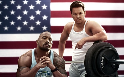 Dwayne Johnson and Mark Wahlberg in Pain and Gain Movie