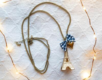 Eiffel Tower Pendant With Chain