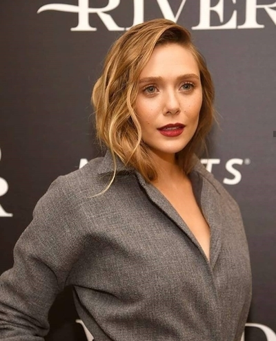 Elizabeth Olsen in Red Lips Beautiful Photo