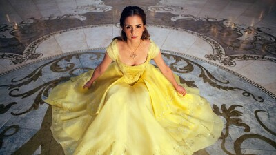 Emma Watson in Yellow One Piece