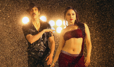Film Star Tamannaah with Ravi Teja