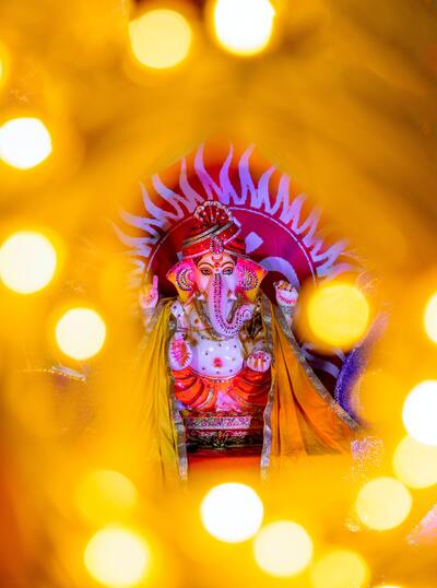 Ganesha Bokeh Effect Photo