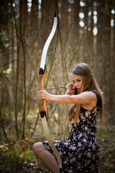 Girl Playing Archery
