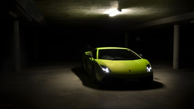Green Lamborghini Gallardo 4K Car Wallpaper