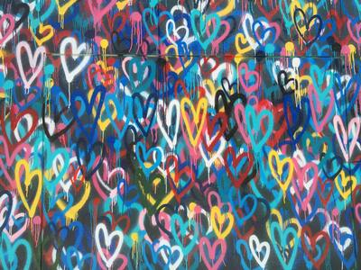 Heart Painting on Wall