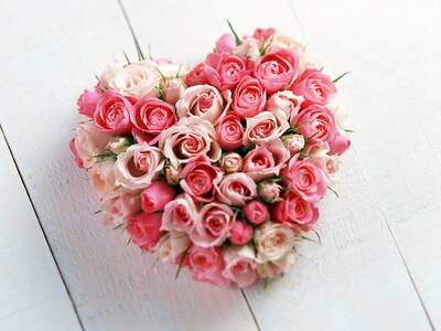 Heart Rose Bouquet