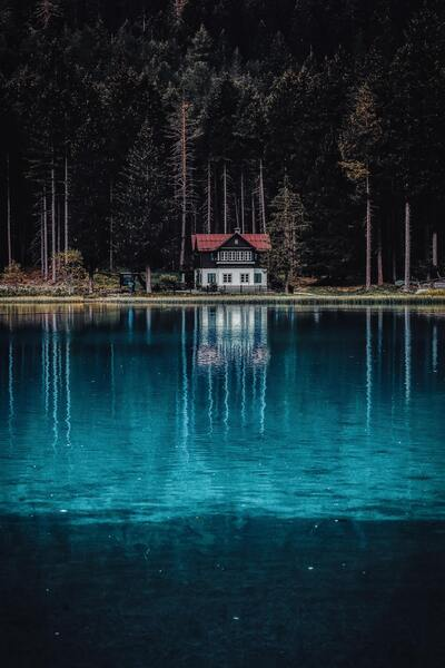 House in Front or Lake in Forest