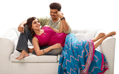 Indian Actor Vijay with Actress Samantha
