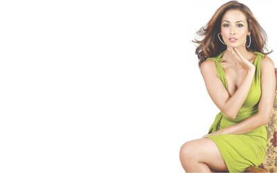 Indian Actress Malaika Arora in Green Dress