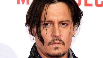 Johnny Depp Long Hair Serious Look Pic
