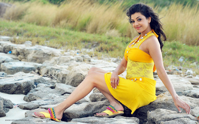 Kajal Aggarwal In Yellow Dress Photography