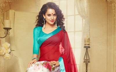 Kangana Ranaut In Saree Widescreen Wallpaper