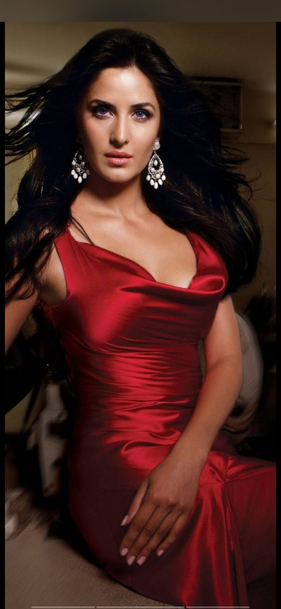 Katrina Kaif Cute in Red Party Dress